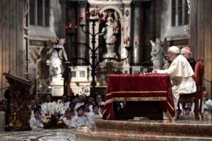 SS. Francesco - Visita Pastorale Milano-Incontro sacerdoti e consacrati nel Duomo  25-03-2017   @Servizio Fotografico - L'Osservatore Romano