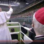 Al Meazza, Papa Francesco incontra giovani