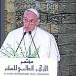 Papa Francesco in Egitto: la pace è un dono di Dio