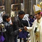 A Milano la Chiesa delle genti nella strada di sant'Ambrogio