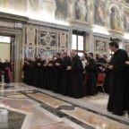 Il papa all'Istituto Agostiniano: trasmettere la cultura cristiana