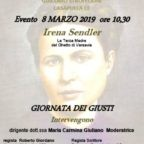 Roberto Giordano con 'Irena Sendler. La terza madre del ghetto di Varsavia' per la Giornata della donna a Casapulla