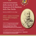 La 125° commemorazione del pio transito di S.M. Francesco II di Borbone ad Arco di Trento