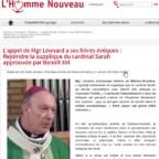 Appello di Mons. Léonard al Papa e ai vescovi affinché non si tocchi il celibato sacerdotale