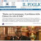 """Cardinale Sarah: """"Basta con le menzogne, il problema della Chiesa è la crisi di fede"""""""