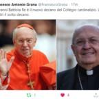 Il nuovo Decano e il nuovo Vice-Decano del Collegio cardinalizio
