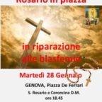 Il 28 gennaio preghiera pubblica del Rosario in piazza a Genova. Contro la Cristianofobia