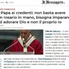 """Qualcuno ha trovato un """"Rosario"""" nel testo dettato ieri del Papa?"""