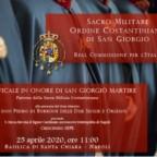 Pontificale 2020 del Sacro Militare Ordine Costantiniano di San Giorgio a Napoli