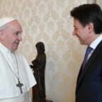 Presidente del Consiglio dei ministri Giuseppe Conte ricevuto in Udienza da Papa Francesco