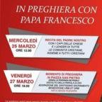 Recita del Padre Nostro nel Palazzo Apostolico Vaticano oggi 25 marzo alle ore 12.00