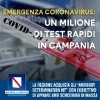 De Luca schiera l'Esercito in Campania. Screening di massa con test rapido. Solo pugno duro ci salverà