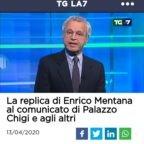 L'uso personale della televisione di Mentana stasera. Si dimetta oppure l'editore de La7 prenda provvedimenti seri