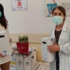 200 Rose bianche di Santa Rita all'Ospedale Bellaria di Bologna