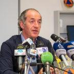 """""""Artiglieria pesante"""" nel Veneto per Covid-19. Il Governatore Zaia prima in classifica di popolarità"""