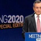 Da Rimini Draghi indica la strada della ripresa economica
