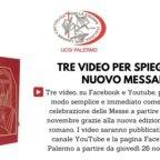 L'Ucsi Palermo pubblica tre video per spiegare le novità del nuovo Messale