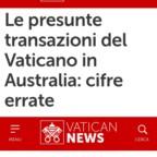 Australian Gate/Mediagate Vaticano. Il Papa rimprovera la comunicazione della Santa Sede, che svela dati riservati