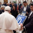 La Sampdoria ricevuta in Udienza privata da Papa Francesco