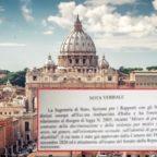 Il testo integrale della Nota verbale della Segreteria di Stato della Santa Sede in riferimento al Ddl Zan